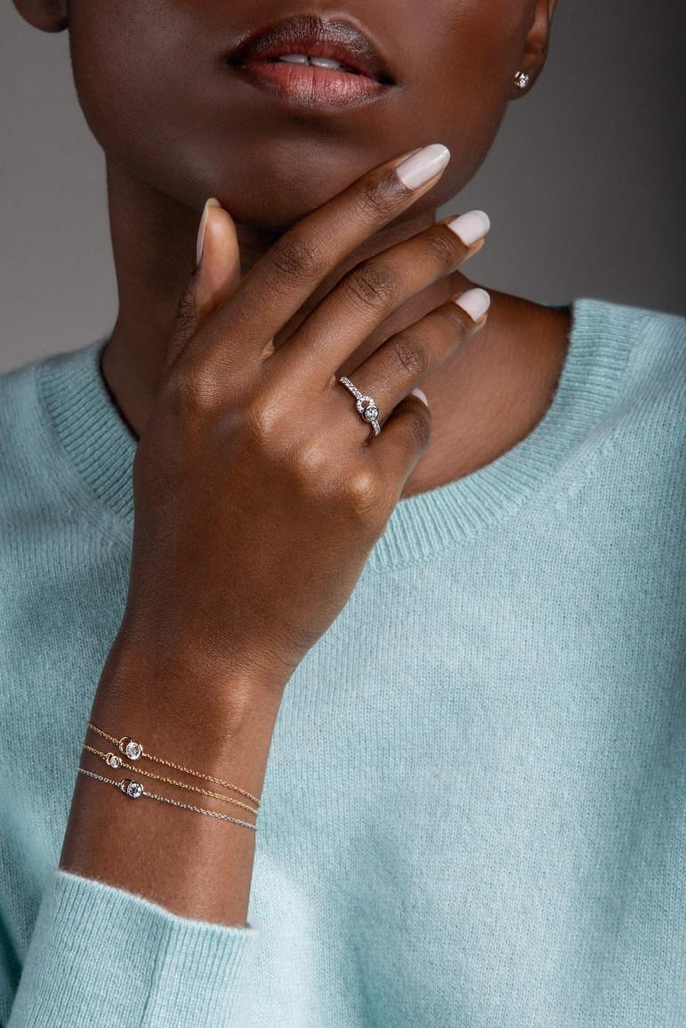 Collection CO - diamants de synthèse et or recyclé - Courbet