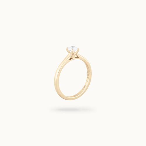 Solitaire quatre griffes - Or jaune 18K (2,70 g), diamant synthétique - Courbet - Courbet