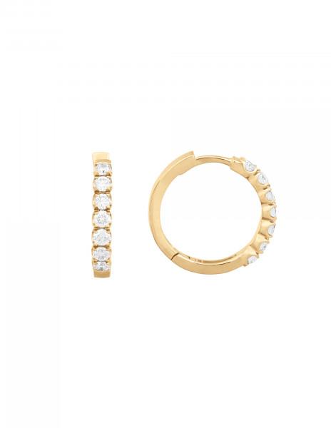 Boucles d'oreilles - Or jaune 18K (4,20 g), diamants 0,70 carat - Courbet