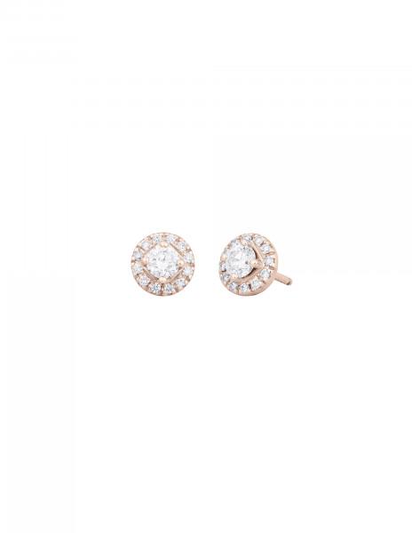 Boucles d'oreilles - Or rose 18K (2,50 g), diamants 0,55 carat - Courbet