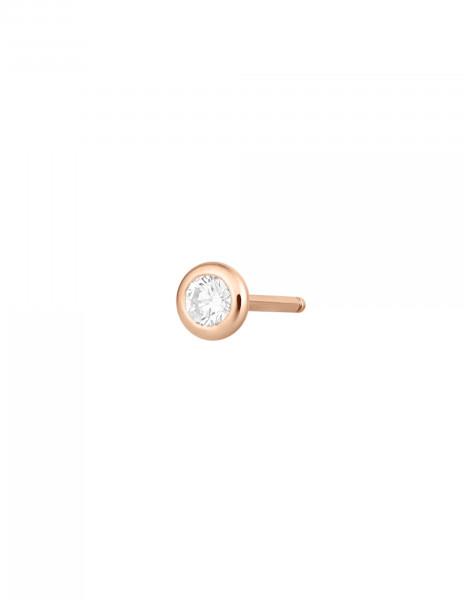 Boucles d'oreilles Origine - Or rose 18K (1,10 g), 2 diamants 0,20 ct - Courbet