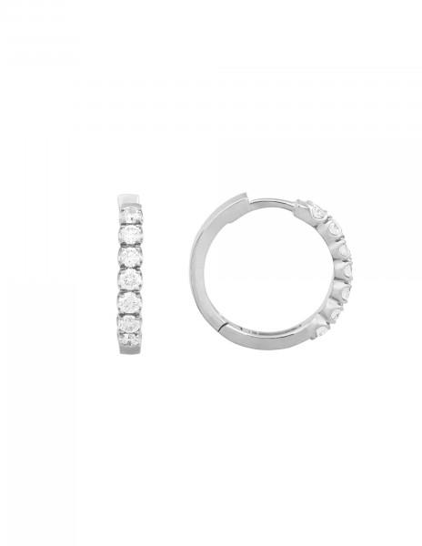 Boucles d'oreilles - Or blanc 18K (4,20 g), diamants 0,70 carat - Courbet