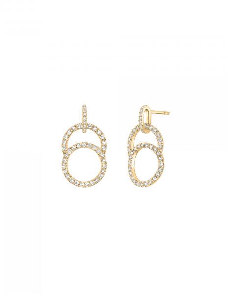 Boucles d'oreilles Celeste - Or jaune 18K (4,20 g), diamants 0,85 ct - Courbet