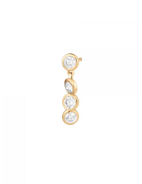 Boucles d'oreilles 2 COURBET - Or jaune 18K (2,10 g), 8 diamants 0,80 ct - Courbet