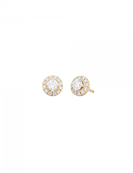 Boucles d'oreilles - Or jaune 18K (2,50 g), diamants 0,55 carat - Courbet
