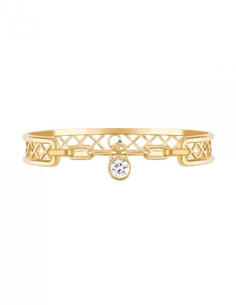 Bracelet Pont des Arts or jaune 18K - diamant synthétique français - Courbet - Courbet