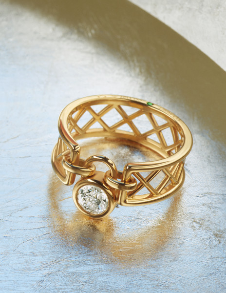 Bague Pont des Arts - Or jaune 18K (4,80g) - diamant de synthèse (0,40 ct) - Courbet - Courbet