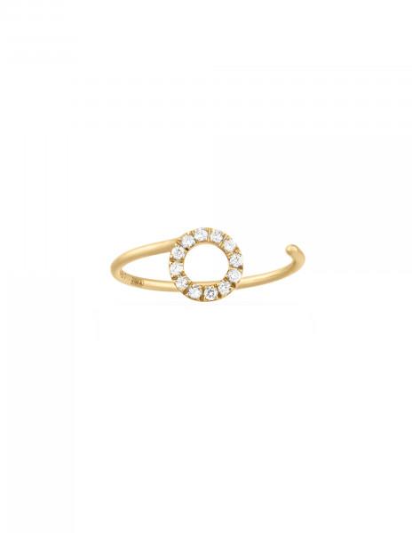 Bague O2 - Or jaune 18K (0,90 g), diamants 0,10 ct - Courbet