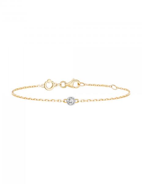 Bracelet chaîne ORIGINE 1 motif serti en or jaune 18K - Courbet - Courbet