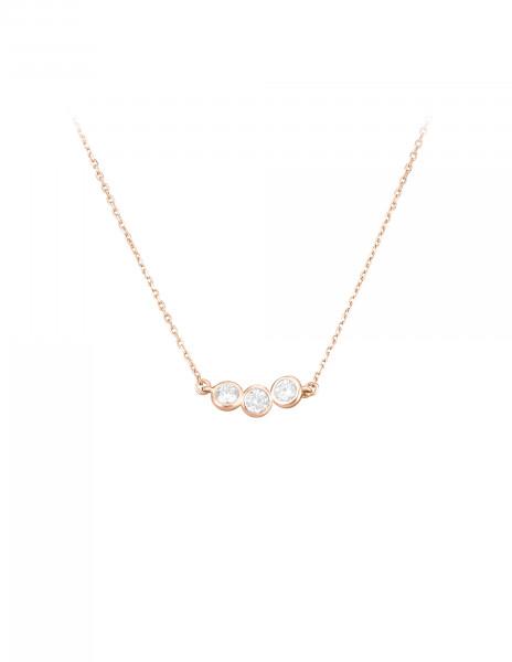 Collier 2 COURBET en or rose 18K - diamants synthétiques - Courbet - Courbet