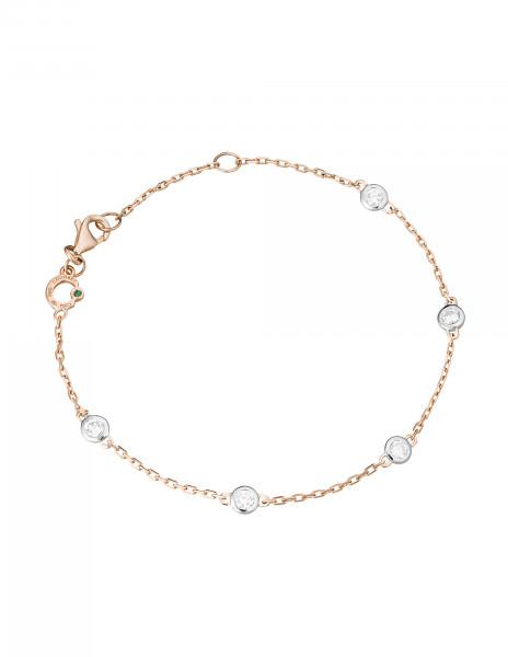 Bracelet Origine - Or rose 18K (2,20 g), 5 diamants 0,50 carat - Courbet
