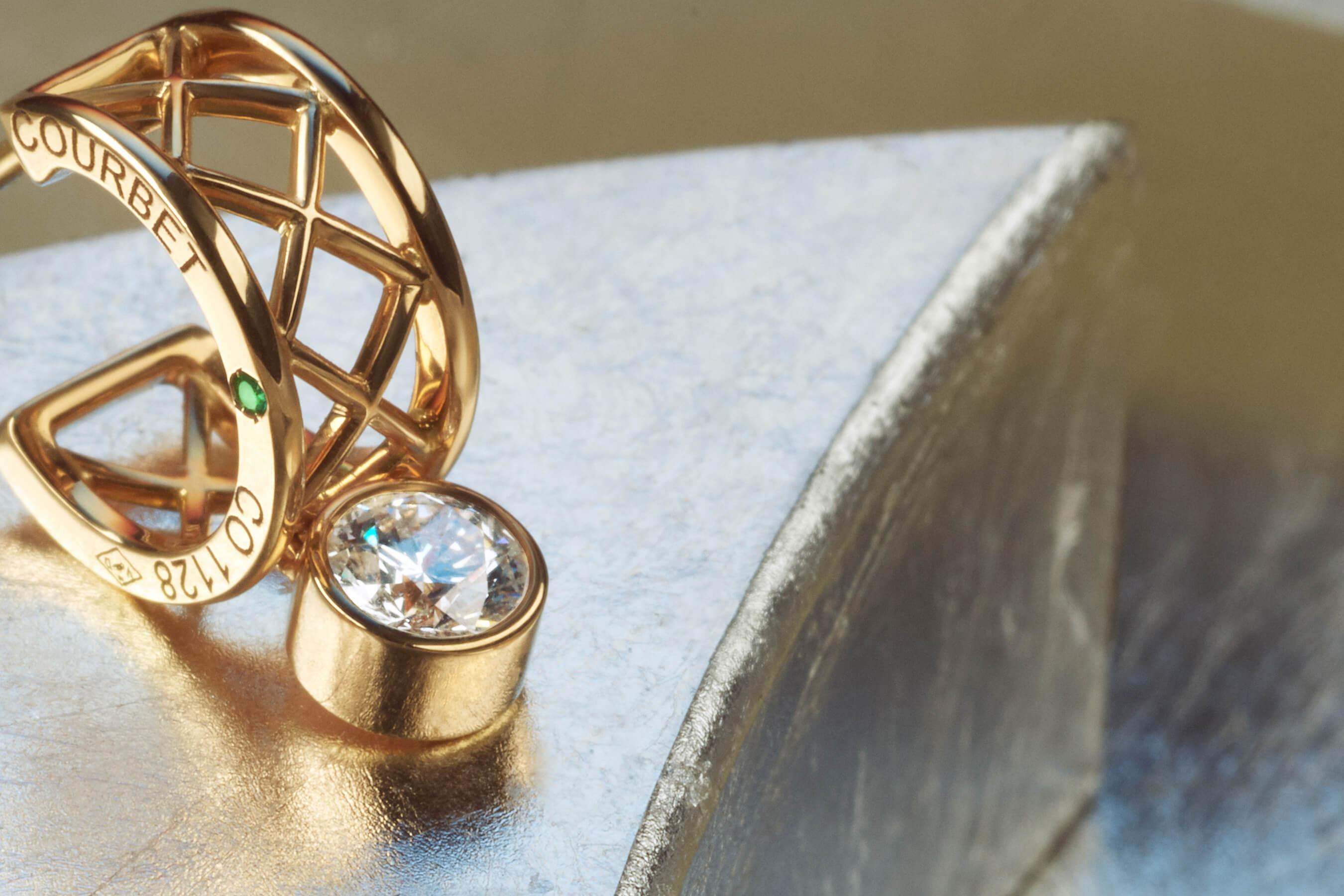 Collection Pont des Arts en or jaune. et diamants de synthèse Made in France - Courbet