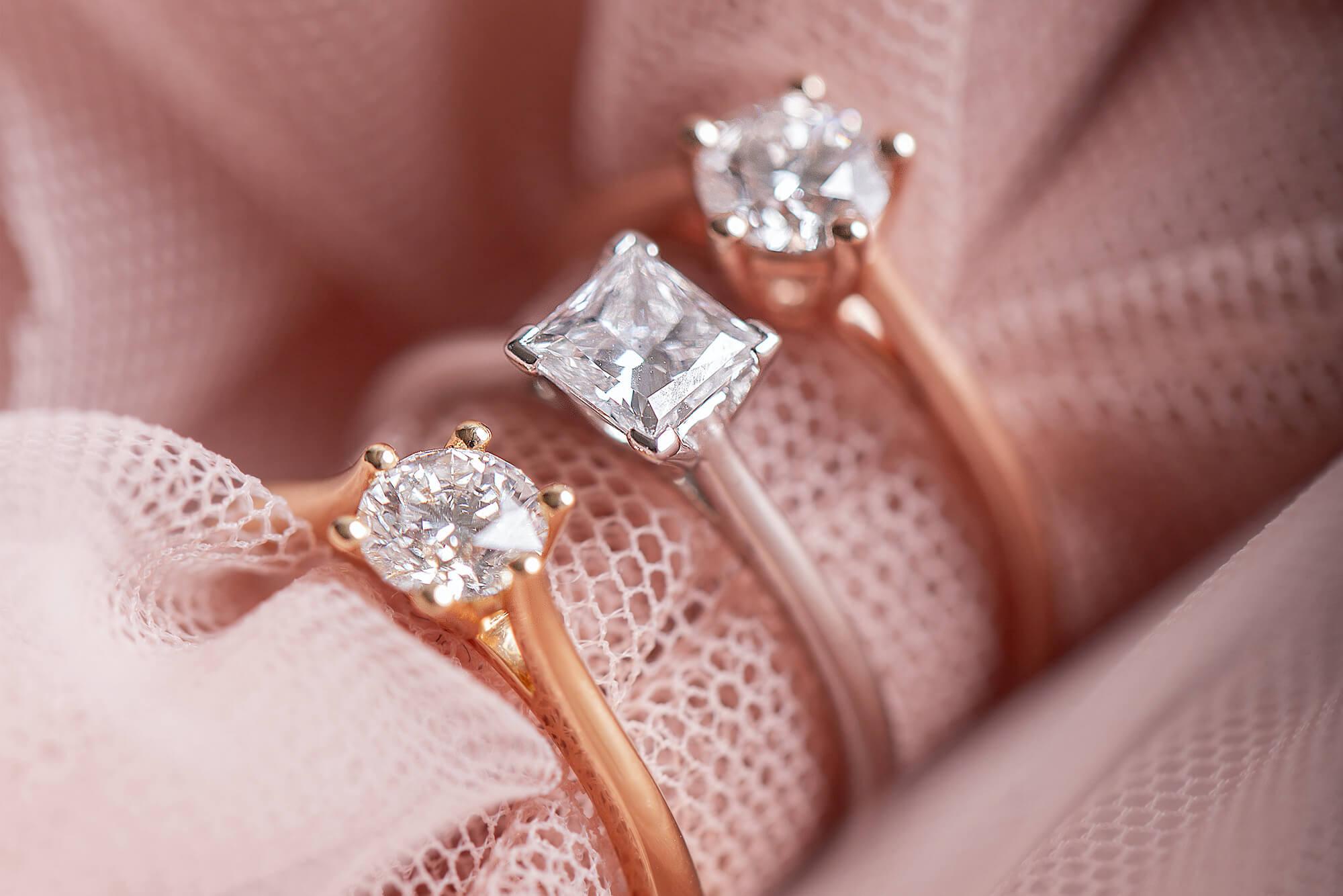 Bagues de fiançailles en or recyclé 18K et diamants de synthèse Made in France - Courbet
