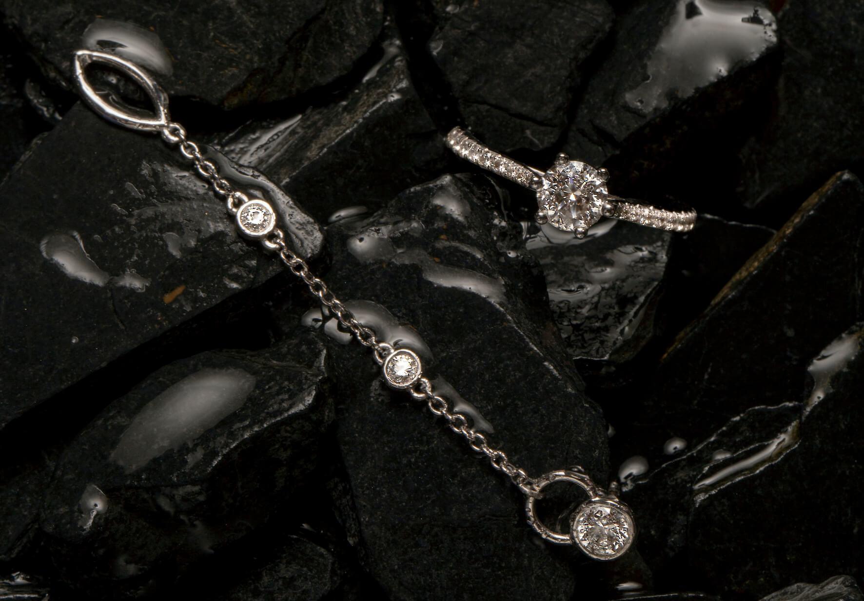 Diamants de Synthèse - Carbon - diamants cultivés en laboratoire - Créations diamants et or recyclé 18K - Courbet
