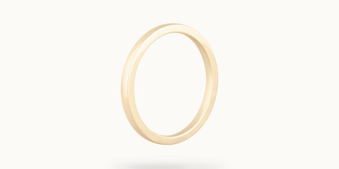 Alliance (2,3 mm) - Or jaune 18K (3,50 g) - Côté