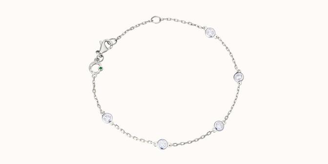 Bracelet Origine - Or blanc 18K (2,20 g), diamants 0,5 cts - Rond - Courbet