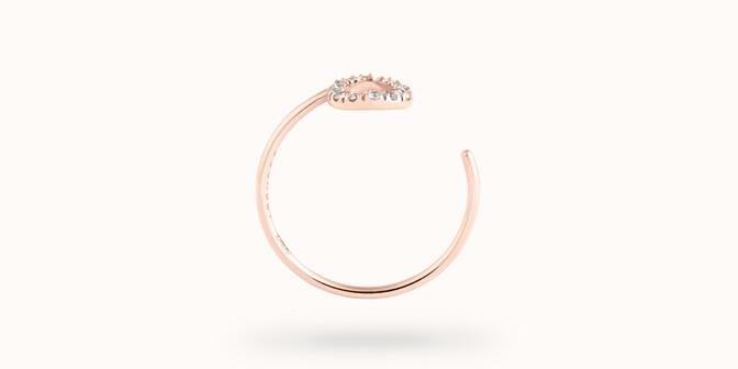 Bague O2 - Or rose 18K (0,90 g), diamants 0,10 ct - Profil