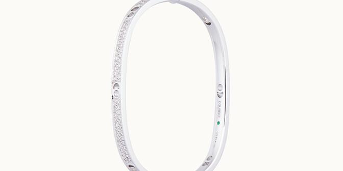 Jonc Eclipse petit modèle - Or blanc 18K (24,00 g), diamants 1,45 cts - Coté - Courbet
