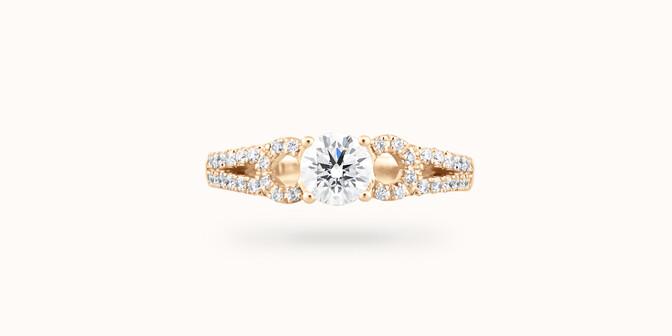 Bague fiançailles Infinity - Or jaune 18K (3,90 g), diamants 0,70 ct - Face - Courbet