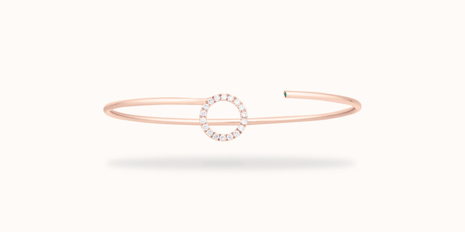 Bracelet O2 - Or rose 18K (4,00 g), diamants 0,18 cts - Face - Courbet