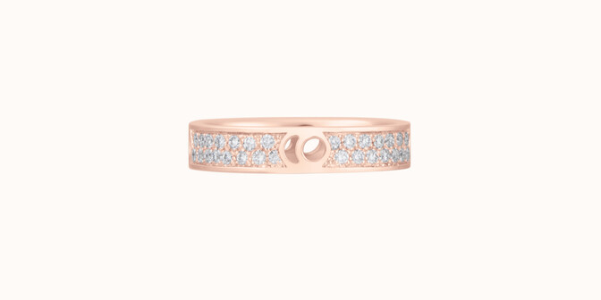 Bague Eclipse petit modèle - Or rose 18K (4,20 g), diamants 0,55 ct - Courbet