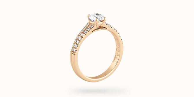 Bague fiançailles Infinity - Or jaune 18K (3,50 g), diamants 0,75 ct - Côté