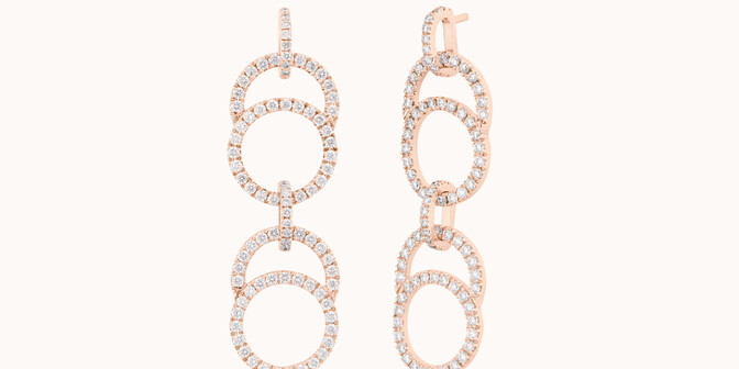 Boucles d'oreilles CÉLESTE en or rose - Courbet