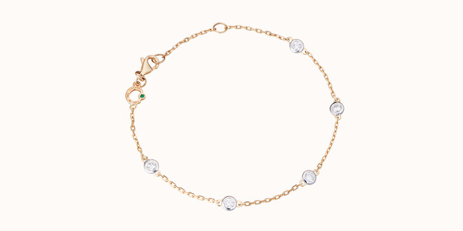 Bracelet Origine - Or jaune 18K (2,20 g), diamants 0,5 cts - Rond