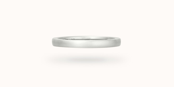 Alliance (2,3 mm) - Or blanc 18K (3,50 g) - Face