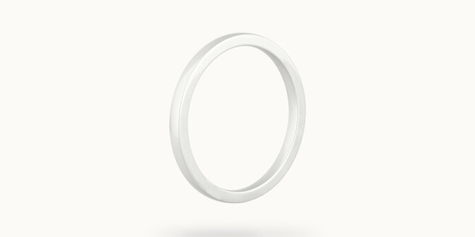 Alliance (2,3 mm) - Or blanc 18K (3,50 g) - Côté - Courbet