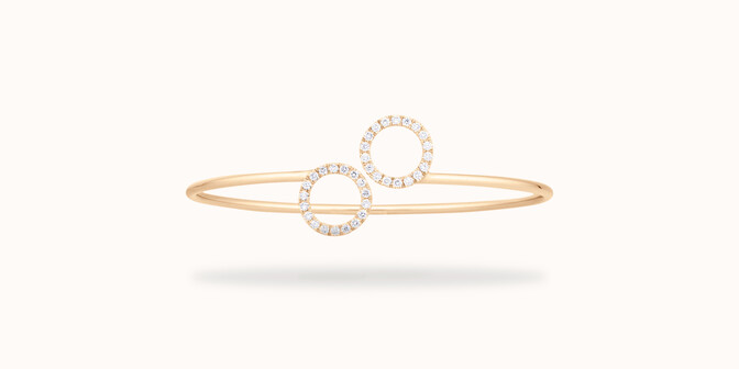 Bracelet O2 -Or jaune 18K (4,50 g), diamants 0,36 cts - Face - Courbet