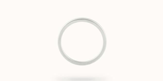 Alliance (2,3 mm) - Or blanc 18K (3,50 g) - Profil - Courbet