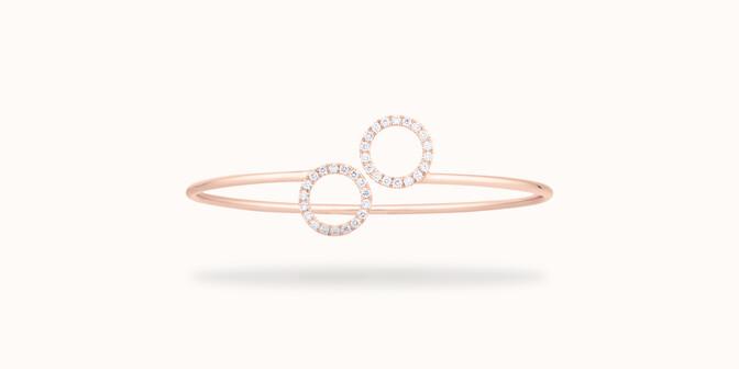 Bracelet O2 - Or rose 18K (5,00 g), diamants 0,36 cts - Face