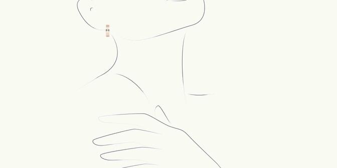 Boucles d'oreilles Eclipse - Or rose 18K (12,00 g), diamants 0,4 cts - Dessin - Courbet