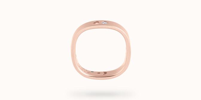 Bague Eclipse petit modèle - Or rose 18K (4,20 g), 4 diamants 0,12 ct - Profil