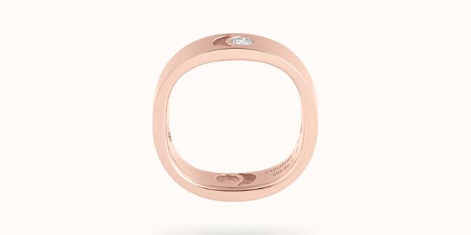 Bague Eclipse grand modèle - Or rose 18K (7,80 g), diamant 0,10 ct - Profil