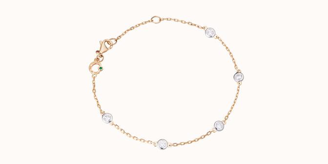 Bracelet Origine - Or jaune 18K (2,20 g), 5 diamants 0,50 carat