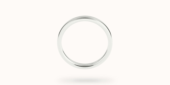 Alliance (3 mm) - Or blanc 18K (4,20 g) - Profil