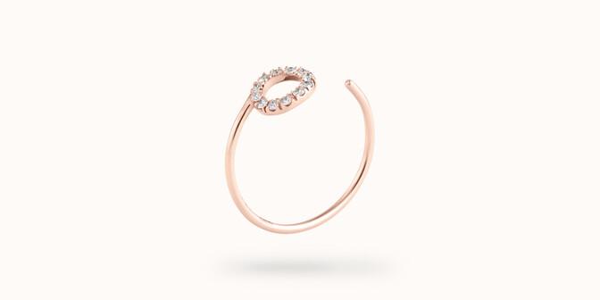 Bague O2 - Or rose 18K (0,90 g), diamants 0,10 ct - Côté