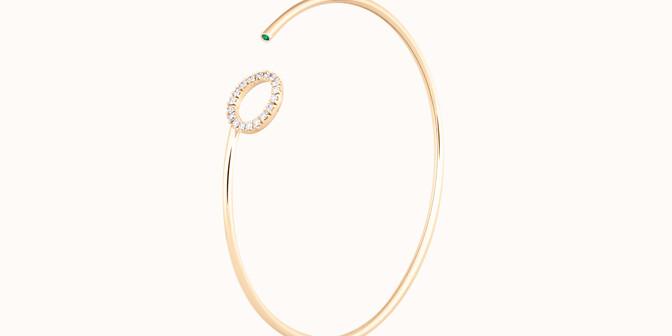 Bracelet O2 -Or jaune 18K (4,00 g), diamants 0,18 cts - Côté - Courbet