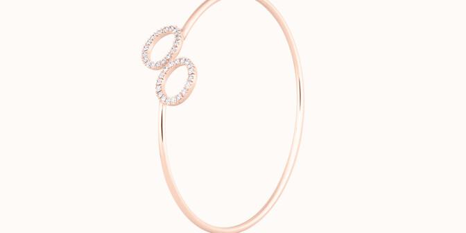 Bracelet O2 - Or rose 18K (5,00 g), diamants 0,36 cts - Côté - Courbet