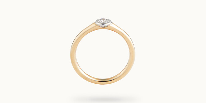Bague Origine - Or jaune 18K (2,60 g), diamant 0,10 ct - Profil - Courbet