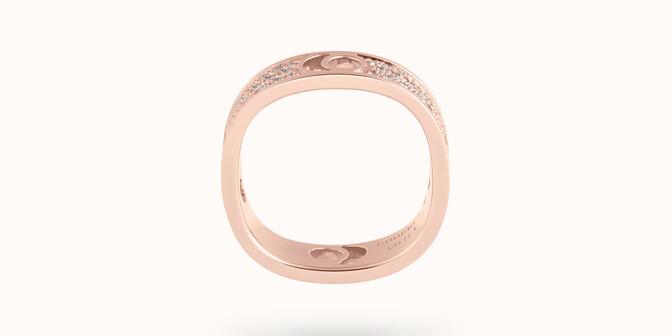 Bague Eclipse grand modèle - Or rose 18K (7,80 g), diamants 0,70 ct - Profil - Courbet