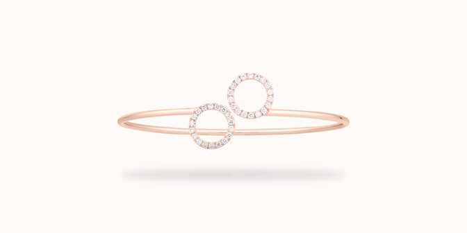 Bracelet O2 - Or rose 18K (5,00 g), diamants  0,36 carat - Courbet