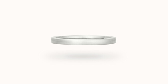 Alliance (1,8 mm) - Or blanc 18K (2,00 g) - Face