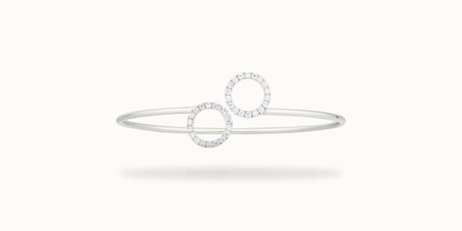 Bracelet O2 - Or blanc 18K (5,00 g), diamants 0,36 cts - Face