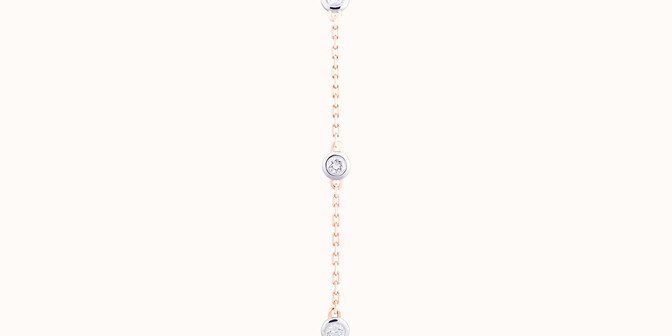 Bracelet Origine - Or jaune 18K (2,20 g), diamants 0,5 cts - Plat