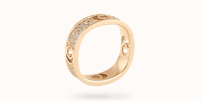 Bague Eclipse grand modèle - Or jaune 18K (7,80 g), diamants 0,70 ct - Côté