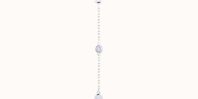 Bracelet Origine - Or blanc 18K (2,20 g), diamants 0,5 cts - Plat - Courbet