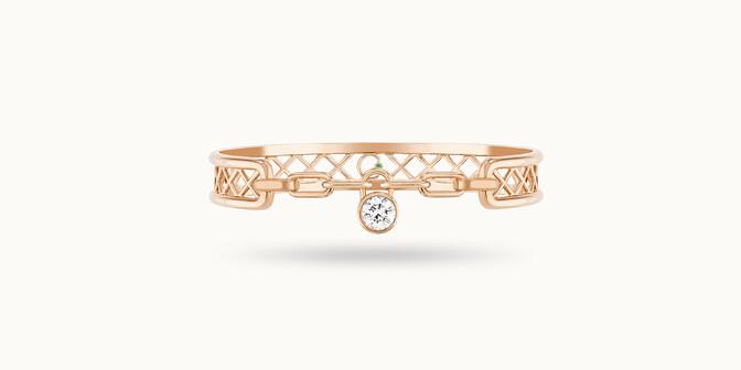 Bracelet Pont des Arts or rose 18K - diamant synthétique français - Courbet - Courbet